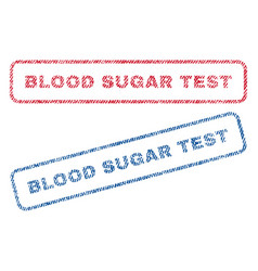Blood sugar test textile stamps vector