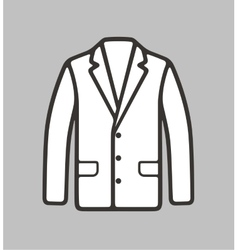 Business jacket icon on background vector image vector image