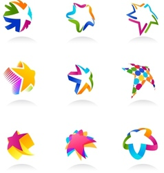 collection of star icons vector image vector image