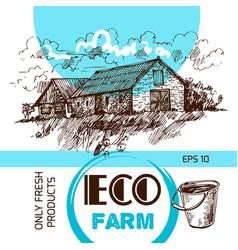 Eco farm vector