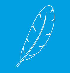 Feather pen icon outline vector