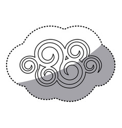 Figure spiral cloud icon vector