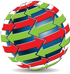 global arrows vector image vector image