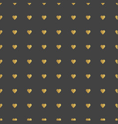 Gold hearts pattern vector