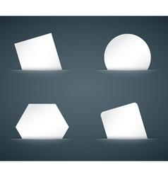 hidden paper cards set vector image vector image