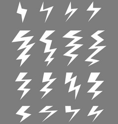 Icons of thunder vector