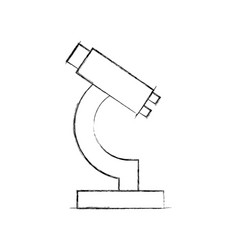 Laboratory microscope isolated icon vector