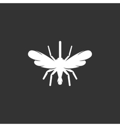 Mosquito logo on black background icon vector image vector image