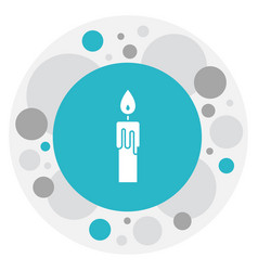 Of religion symbol on candle vector