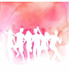 Party people on a watercolour background vector