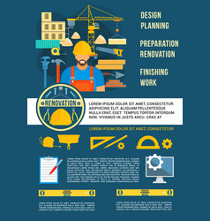 poster home design planning work tools vector image vector image