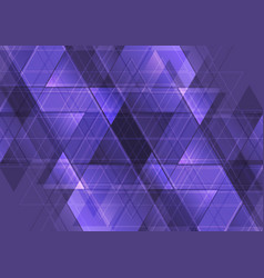 purple abstract tech triangles mosaic pattern vector image