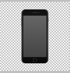 Realistic smartphone icon isolated on transparent vector
