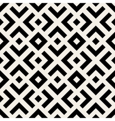 Seamless black and white geometric lines vector