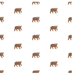 seamless pattern with brown bears pattern vector image vector image