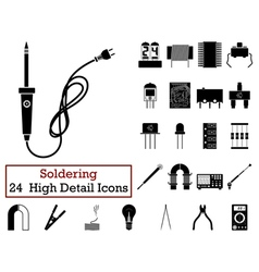 Set of 24 Soldering Icons vector image vector image