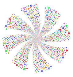 Smile fireworks swirl flower vector