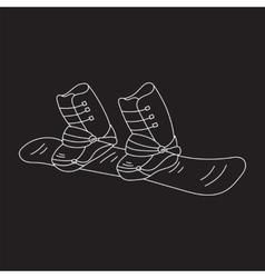 Snowboard line icon vector image vector image
