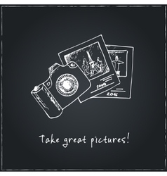 Take great pictures motivational travel poster vector