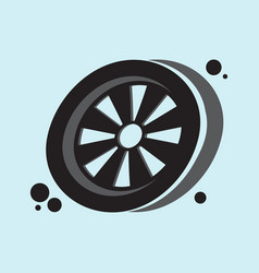 Wheel icon eps 10 vector