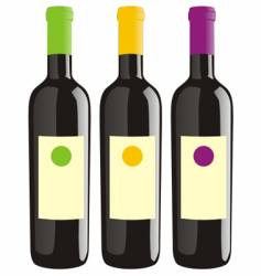 wine bottles set vector image vector image