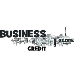 Z business credit score text word cloud concept vector