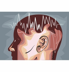 brain waves eeg vector image