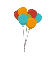 Balloon party decoration vector