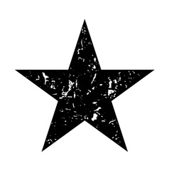Star icon grunge texture black vector
