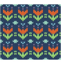 Knit pattern vector