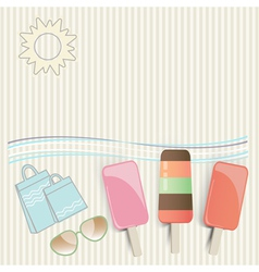 Summer ice cream at the seaside vector image