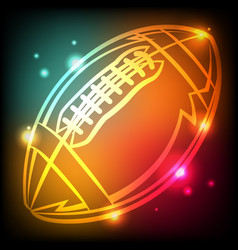 Glowing american football icon vector