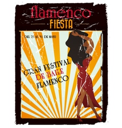 Flamenco poster vector