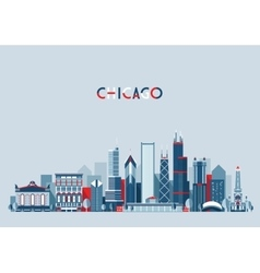 Chicago United States City Skyline Trendy vector image