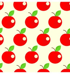 Seamless apples background vector