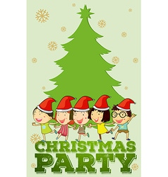 Children singing christmas songs vector