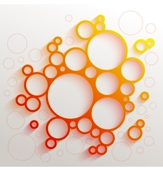 Infographics red and orange gradient circles vector
