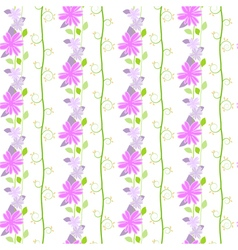 Cute seamless pattern with the floral and leaves vector