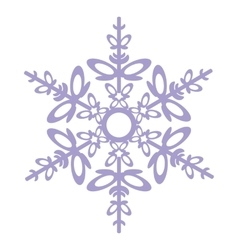 Isolated snowflake 03 vector