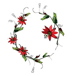 Passiflora wreath vector
