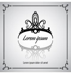 Elegant crown or tiara vector image