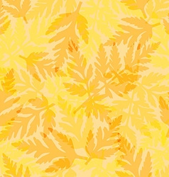 Seamless pattern with fern vector