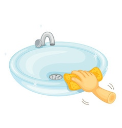 Cleaning basin vector image
