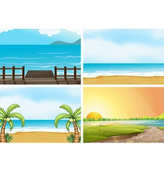 Beaches vector image