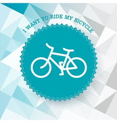 bicycle poster vector image vector image