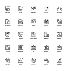 business and finance line icons 14 vector image vector image