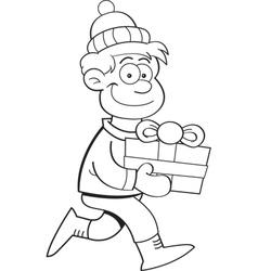 Cartoon Gift Kid vector image vector image