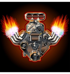 Cartoon Turbo Engine vector image