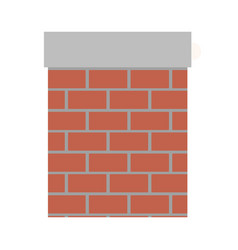 chimney in brick material on colorful silhouette vector image vector image