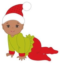 Christmas baby vector